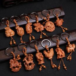 $enCountryForm.capitalKeyWord Australia - designer keychain for men and women Zodiac key chain carved mahogany solid key chain gift pendant