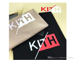 $enCountryForm.capitalKeyWord NZ - KITH Slash Classic Box Logo Tee Teenager Boy Clothing Mens Designer T shirt Summer Short Sleeved Tops
