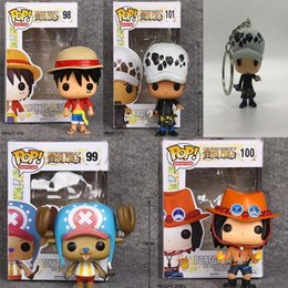 one piece portgas d ace figure 2019 - 4pcs One Piece Tony Tony Chopper 99# Portgas D Ace 100# Funko Pop Anime Figure Valentine's Day Gifts Toys Birthdays