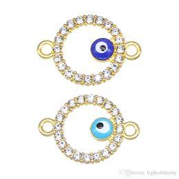 Wholesale Jewelry Evil Eye Connectors Australia - 50pcs   lot fashion evil eye connector hamsa hand cross shape evil eye diy jewelry accessories found handmade bracelet wholesale