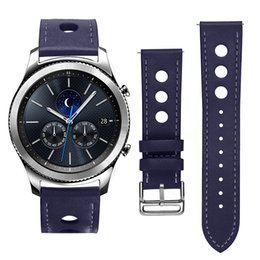 Wholesale Fashion mens male leather watch bands Strap for Samsung Gear S3 classic unisex sport bracelet watchbands wrist band mm