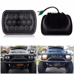 HeadligHt cHerokee online shopping - Black W x6 quot X7 quot LED Projector Headlight Hi Lo Beam DRL For Jeep Cherokee XJ