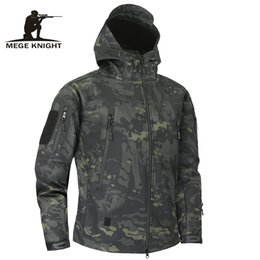 shark shell jacket Australia - Mege Shark Skin Soft Shell Military Tactical Jacket Men Waterproof Army Fleece Clothing Multicam Camouflage Windbreakers 4XLMX190828