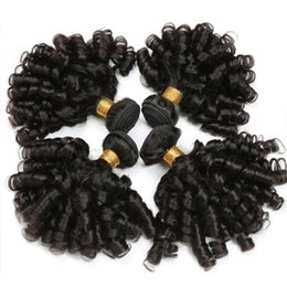 Discount fumi hair weave - 100% Unprocessed 9A Top Grade Raw Indian Remy Human hair bundles Aunty Funmi Romance Sprial Curly human Hair Weft Aunty