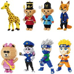 $enCountryForm.capitalKeyWord NZ - BALODY DIY Assemblage Puzzle Toy Building Blocks Miniature Diamond Cartoon Series Fox Giraffe Soldier Bear Children's Educational Toys
