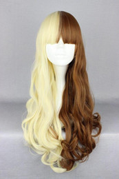 Smart Hair Australia - WIG Hot heat resistant Party hair>>>Lolita Cospaly Tow Color Mixed Full Bangs Smart Long Curly Carnival Party Wig
