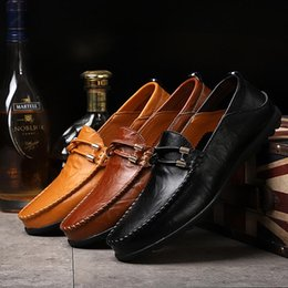 $enCountryForm.capitalKeyWord NZ - 24 styls genuine leather Luxury Designer Casual Shoes lace-up or Slip-On men's suit shoe Dress Shoes comfort breath Driving Car Shoes