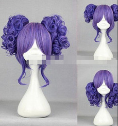 Kanekalon Lace Wigs NZ - WIG LL<<< 003218 Short Charm Lolita Color Mixed Curly Cosplay wig+2Clips on Ponytai queen Wig Kanekalon Fiber no lace Hair full Wigs