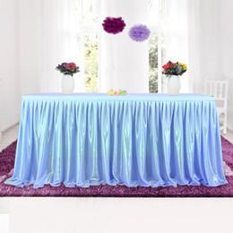 Vente en gros Tulle Tutu Table Jupe Vaisselle Tissu Pour La Fête De Banquet De Mariage Décoration De La Table De Mariage Plinthe 4 Couleurs