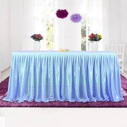 Discount table cloth colors - Tulle Tutu Table Skirt Tableware Cloth For Party Wedding Banquet Home Decoration Wedding Table Skirting 4 Colors