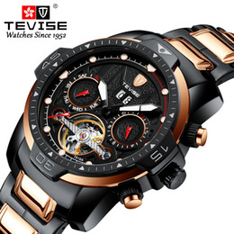 lighting calendar Australia - 2019 new tevise fashion multi-function mechanical watch European and American waterproof calendar night light month display student sports w