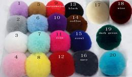 Hair Poms Wholesale Australia - 100pcs 6cm Faux Fur pompon ball fluffy imitation RABBIT fur pompom Soft Pom Poms for DIY bobbles hair bows hoop Accessories GR152