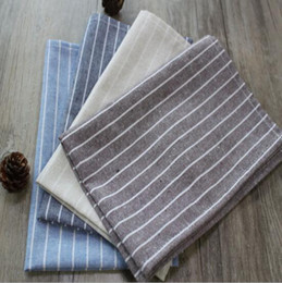 $enCountryForm.capitalKeyWord Australia - 45*60cm simple modern plain style large striped cotton mats Western restaurant tablecloths bowl coasters tea towel