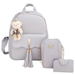 3pcs A Set Korean Fashion Small Schoolbag School Bag Cute Backpack Casual Travel  Bags For Girls Kid Girl Children Pu Schoolbags 62d3189d5deed