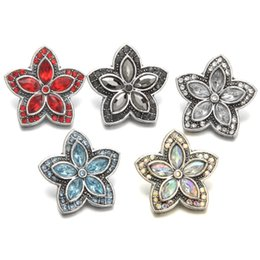 Wholesale Hot crystal flower mm metal snap button Wrist watches for women bracelet bead charm one direction