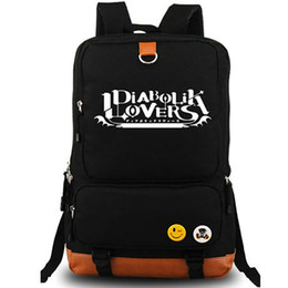 Cartoons Nice Girls NZ - Diabolik lovers backpack Komori Yui day pack Nice school bag Cartoon packsack Laptop rucksack Sport schoolbag Outdoor daypack