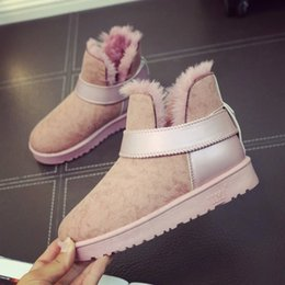 Discount russian snow boots - QZYERAI 2018 Russian New Low-priced Winter Thermal Women Boots Plush Snow Boots Buckskin Warm Women Boots Fur Shoes Wome
