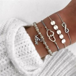 $enCountryForm.capitalKeyWord Australia - Ailend fashion silver plated charm beads bracelet ladies new bohemian shell world map bracelet pearl fashion jewelry ladies gift