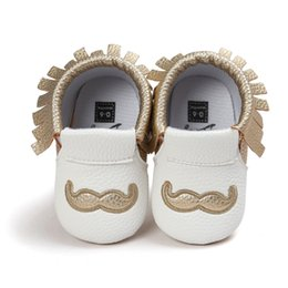 baby moccs tassel Canada - Hot moccs baby moccasins brand gold pu leather baby girl boy shoes Soft Sole Non-slip Fashion Tassels Newborn Baby Shoes.CX120C