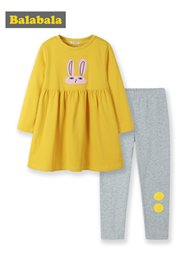 $enCountryForm.capitalKeyWord Australia - Balabala Kids Girl 2-piece Rabbit Graphic Long Sweatshirt Tops + Elastic Leggings Set Children Toddler Girl Spring Clothing Set J190713