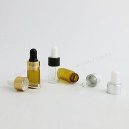 $enCountryForm.capitalKeyWord NZ - 100 x 3ml Clear Small Glass Dropper Bottle Jars Vials With Pipette For Cosmetic Perfume Essential Oil Bottles