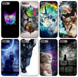 cute cases for iphone 5c NZ - [TongTrade] Nebula Space Cute Cat Glasses Print Case For iPhone 11 Pro X XS Max XR 6s 5s 5c 5 SE Samsung Grand I9082 Prime LG K12 Cover Case