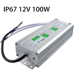 switch ip67 NZ - DC 12V 100W IP67 Waterproof LED Driver AC100-260V To DC 12V LED Driver Switch Transformer Outdoor Lighting Power Supply