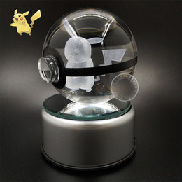 $enCountryForm.capitalKeyWord NZ - Christmas Supplies 3D K9 Crystal Magic Ball LED Lamp Pokemens Series ikachu Gengar Jigglypuff Figrye Figures Toys Desktop Decoration Light