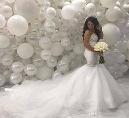 $enCountryForm.capitalKeyWord Australia - Arabic Middle East Country Mermaid Wedding Dresses Cheap 2019 Sweetheart Beading Lace Court Train Ivory Vintage Bridal Gowns