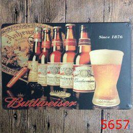 $enCountryForm.capitalKeyWord Australia - Retro Beer Here Metal Poster Wall Decor Bar Home Vintage Craft Gift Art 20x30cm Iron painting Tin Poster (Mixed designs)