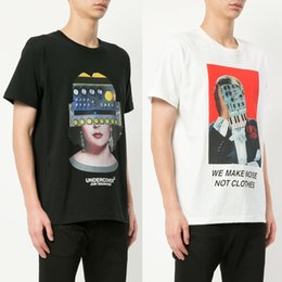 Face T Shirt Designs Australia - Undercover T-shirts New Design Face Printed Short Sleeve White Black Tees UC We Made Noise Not Clothes Hip Hop Top T-Shirt CLI0413
