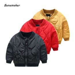 boys winter bomber jacket Canada - Benemaker 2019 Toddler Spring Warm Bomber Jacket For Girl Boy Children's Clothing Thick Coats Overalls Baby Kids Outerwear YJ026MX190916