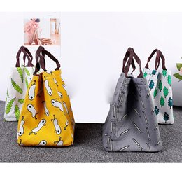cool bag picnic UK - Travel Portable Lunch Bag Waterproof Men Women Student Lunch Box Thermo Bag Office School Picnic Cooler