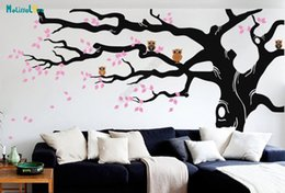 Owl Tree Branch Australia - Huge Branch DIY Large Tree Leave And Owl Nursery Wall Decal Baby Room Sticker Kid Room Wallpaper Big Size Home Decor B923