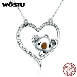 $enCountryForm.capitalKeyWord Australia - Wostu High Quality 925 Sterling Silver Cute Koala Pendant Necklace Women Girl Lovely Jewelry Gift For Girlfriend Cqn256 J190615
