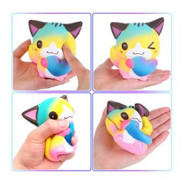 squishy toy balls NZ - PU foam rainbow smile face squishies animals robot cat toys lol custom shape stress ball toy squishy cat