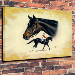 $enCountryForm.capitalKeyWord Australia - Thoroughbred Horse Hand Painted Art Canvas Oil Painting Modern Huge Wall Art Picture Home Decor Gifts