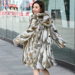 Wholesale ship real fur jackets resale online - New Real genuine natural fur coat with hood women s fashion fur jacket outwear custom any size