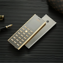 key mp3 player UK - Luxury metal body dual sim Card key cell phone Fashion Design Small mini card GSM senior Golden Unlocked Signature 8800 Steel Mobile phone
