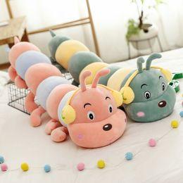 Caterpillar Soft Toys Australia - 1pc Caterpillars Plush Kids Toys Soft Plush Pillow Animal Doll Boys Girls Toy Peluche Cushion For Children Gifts