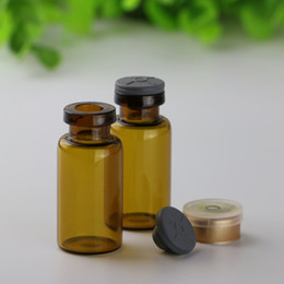 medical bottles Australia - Wholesale Thin Tube 15ml Medical Glass Vials Amber Clear Empty Pharmaceutical Glass Bottles for Pill With Rubber Stopper