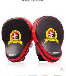 $enCountryForm.capitalKeyWord Australia - Free Shipping 2pcs lot New Hand Target Mma Focus Punch Pad Boxing Training Gloves Mitts Karate Muay Thai Kick Fighting Yellow T190720