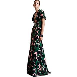 827579bc99 Sexy Dress New High Quality Runway 2018 Spring Summer Women's Party Office  Elegant Elegant Boho Beach Printing Maxi Long Dresses Y19052901
