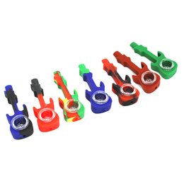 $enCountryForm.capitalKeyWord UK - DHL Free Silicone Oil Rig Water Pipe Guitar Cigarette Hand Pipes Hookah Bongs Colorful Silicon Oil Dab Rig 4.33 Inches