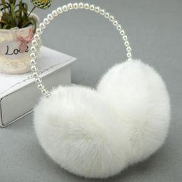 $enCountryForm.capitalKeyWord UK - Wholesale- Fashion Rabbit Fur Earmuffs Ear Muffs Ear Warmers Earmuffs Winter Outdoor Women Christmas Gifts1PCS x Earmuffs