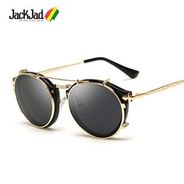 clamshell sunglasses Australia - Wholesale- JackJad 2017 Fashion Style SteamPunk Clamshell Removable Sunglasses Vintage Retro Brand Design Sun Glasses Oculos De Sol Gafas