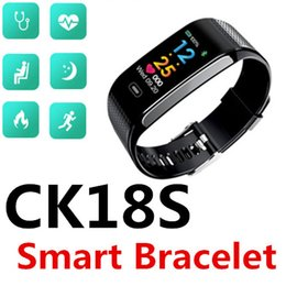 Male hand bands online shopping - CK18S Smart Bracelet Sport Bluetooth band Continuous heart rate hand on bright screen calorie social sharing shake photo waterproof Packs