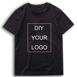 Wholesale diy tee shirts online – design Hip hop Customized logo Print tshirts Drop Shipping men clothes DIY your Logo homme tee Harajuku cotton O Neck Harajuku T Shirts