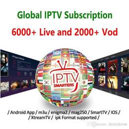Großhandel 1/3/6/12 Monate Unterstützung für globales Iptv-Abonnement Smart TV M3U Android-TV-Box Mag-Box IOS Frankreich Großbritannien Italien USA Kanada Abonnement Iptv