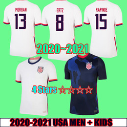 22 shirt Australia - 2020 2021 4 stars USA Soccer Jersey 20 21 PULISIC DEMPSEY Morgan RAPINOE LLOYD ERTZ America Football shirts United States men kid Size S-XXL
